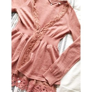 | Anthropologie | Knitted & Knotted Lace Cardigan